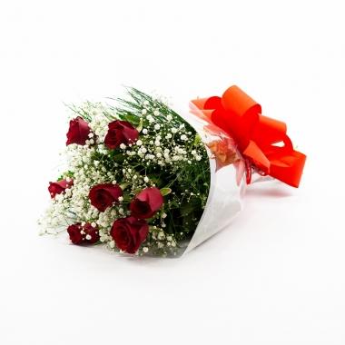 Buquê 06 Rosas Vermelhas Nacionais