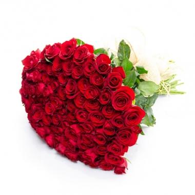 Buquê 100 Rosas Vermelhas Nacionais